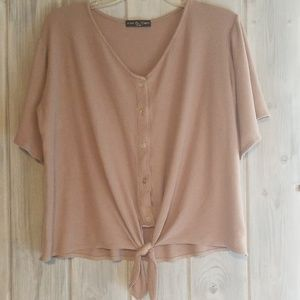 Euc womens size large tan shirt